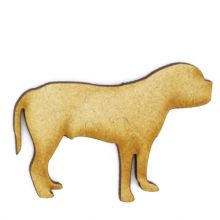 Bull Mastiff Craft Blank, Dog Shape 3mm MDF Laser Cut Pyrography